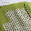 Yarn Dyed Stripe Linen Rayon Short Sleeve Shirts