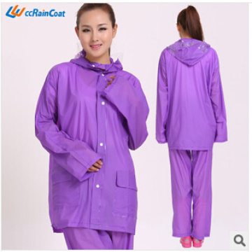 New design custom functional long pvc rain poncho for adults