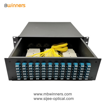 3U 144 Cores LC Duplex Fiber Optic Termination Box Patch Panel