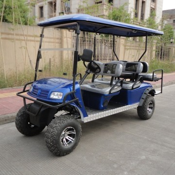 6 seats gas golf cart with off road tyre