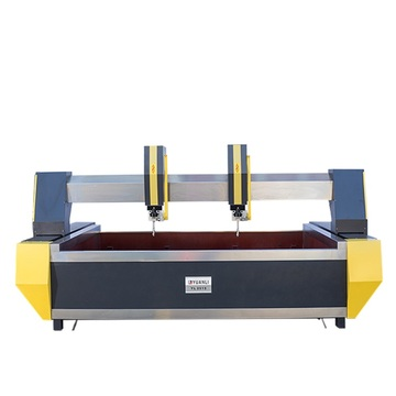 Double head customized size waterjet cutting service