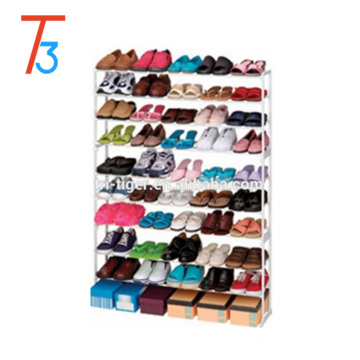 50 pair cheap portable folding metal shoe rack