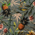 Printed100 rayon fabric floral for dress garment
