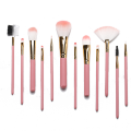 12 pieces makeup brush with plastic barrel
