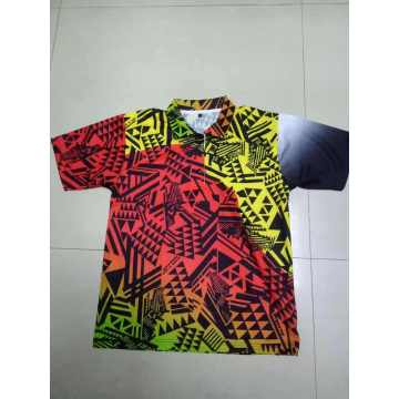 custom colorful man digital printing T-shirt garment
