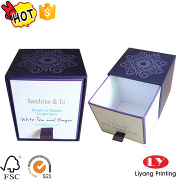 Customized candle perfume gift drawer packaging box