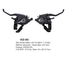 Front/Rear Bicycle Derailleur Set Alloy Thumb Shifter