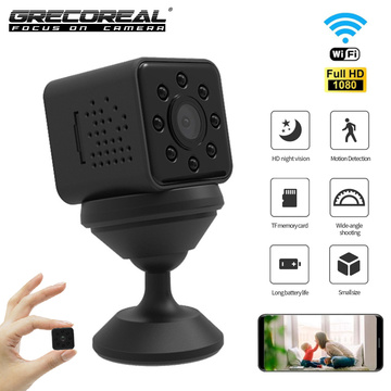 GRECOREAL SQ23 Wireless Camera Wifi Mini Cam 1080P HD Camcorder Waterproof Sports Action Night Vision Outdoor Hidden TF card