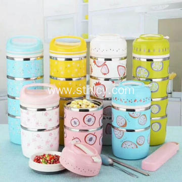 Multiple Compartments Stainless Steel Food Container Set