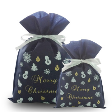 Christmas Party Celebrations Non-Woven Gift Drawstring Bag