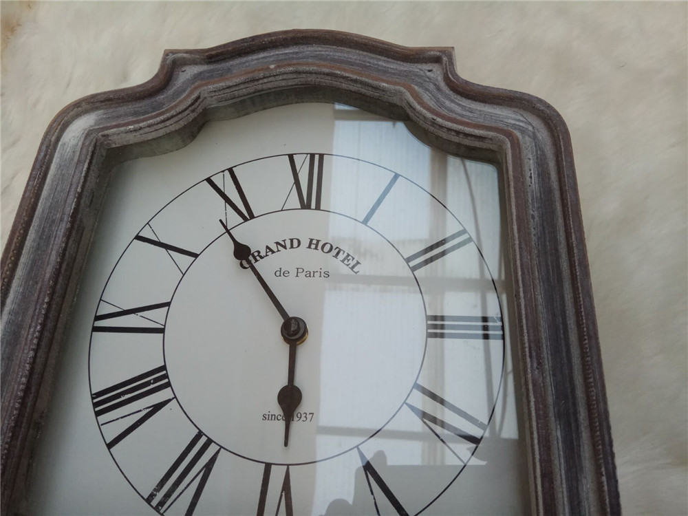 wooden clock with hook