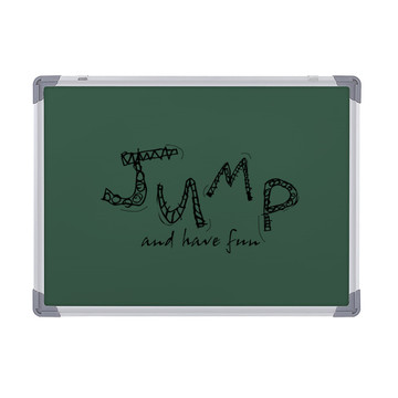 School magnetic green chalk writing board for classroon