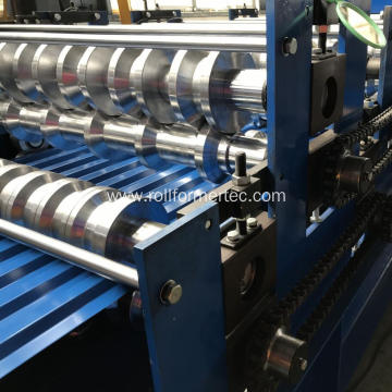 Double layer roofing panel rollforming line