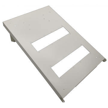 OEM Galvanized Steel White Laser Cutting Baseboard Design