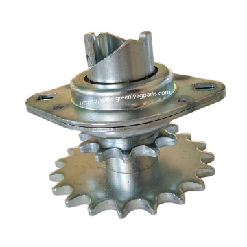 GA10137 Kinze planter hopper drive double sprocket and bearing