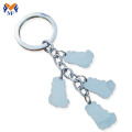 Metal 3d die cut keychain for advertising