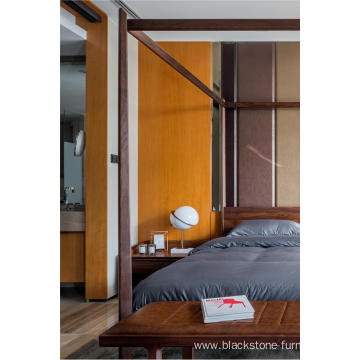 FAS Walnut Solid Wood Bedroom Furniture Beds