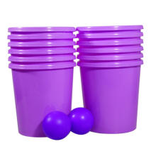 Yard pong game for playing