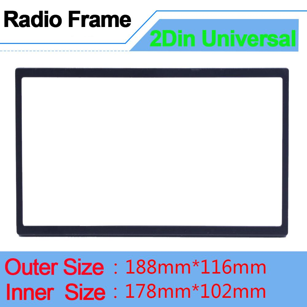 Universal Radio Frame for 2 din Radio Fascias Multimedia Player Double Din Auto Accessories for 7'' Autoradio Stereo Frame Doble
