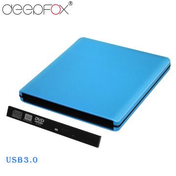 DeepFox Aluminum 12.7mm USB 3.0 External DVD Optical Drives Enclosure SATA II External DVD Case Support 3.0 Gbps