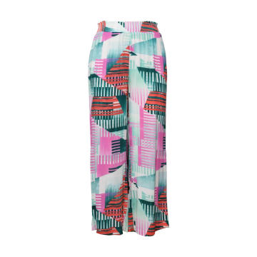 Women Popular Colorful Geometric Print Straight Pants