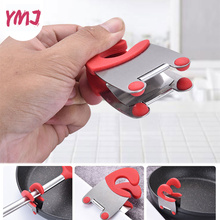 Stainless Steel Pot Clip Pan Scoop Clamp Tongs Holder for Pot Pan Spoon Holder Spatula Storage Rack Kitchen Cooking Tools