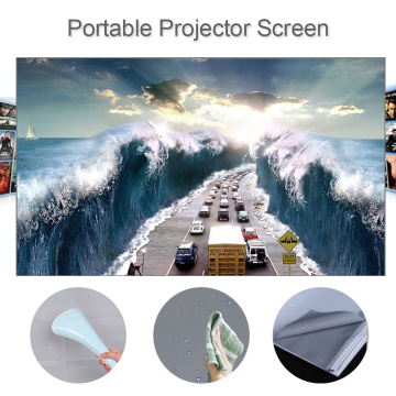 80 100 120 inch HD Projector Screen 16:9 Frameless Video Projection Screen Foldable Wall Mounted for Home Office Grey screen