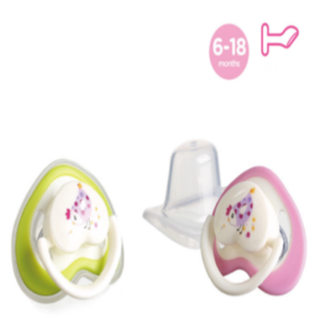 Baby Silicone Pacifier Flat Heart Shape Nipple
