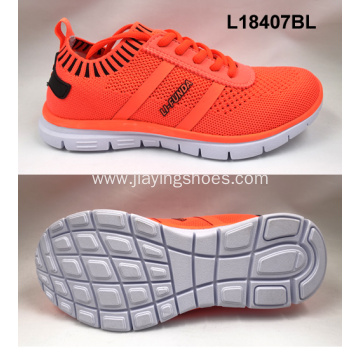 Lady sport elastic flyknit shoes