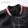 Spring Custom Casual PU Leather Men Blazer Jackets