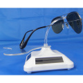 Plastic Rotating Display Stand Sunglasses Eyeglasses Solar Energy Powered Show Holder Organizer Accessories