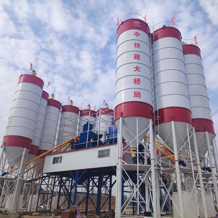 Central control new brand 90m3/h concrete batching plant