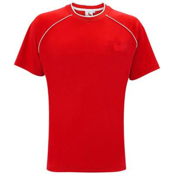 Red polyester football shirt