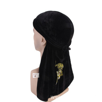 Cheap pleuche bandanas muslim hair turban hijab caps