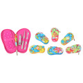 Slipper Shape PU Case Manicure Pedicure Set