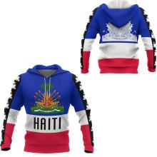 Tessffel Country Emblem Flag Caribbean Sea Haiti Island Retro Pullover Men/Women Tracksuit Jacket 3Dprint Streetwear Hoodies A-4