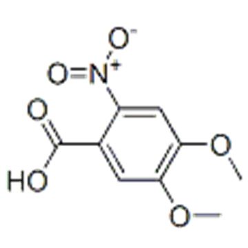 4,5-Dimethoxy-2-nitrobenzoic acid CAS 4998-07-6