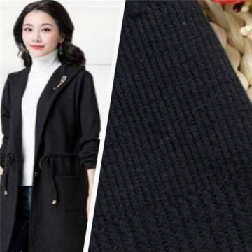 High Quality Black Jacquard Knitting Fashion Fabrics