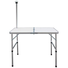 Camping double folding Table with Adjustable Legs