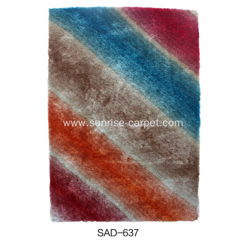 Polyester Shaggy Rugs with pofuse designs