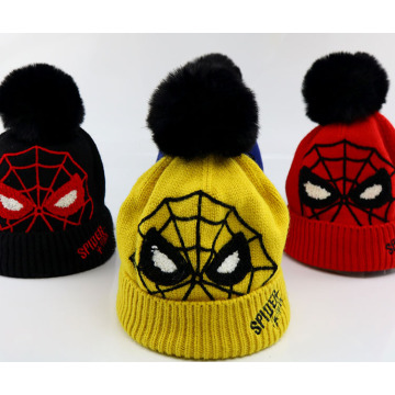 Spiderman Strickmütze für Winterkinder
