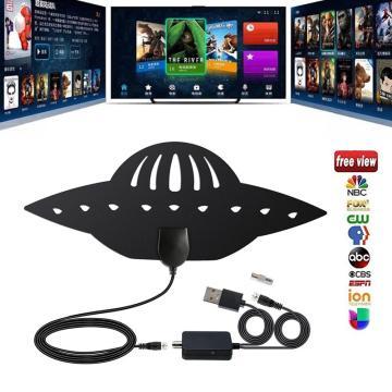 980 miles Indoor Digital TV Antenna Signal Receiver Amplifier Radius Surf Fox Freeview Aerial Mini DVB-T2 isdb-tb satellite dish