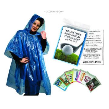 Adult Plain Color Disposable LDPE Rain Ponchos