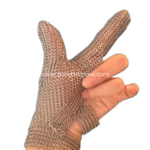 Two Fingers Metal Mesh Gloves