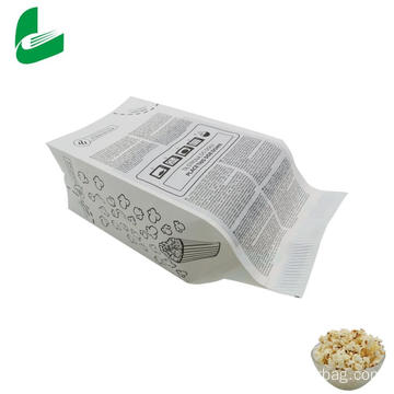 Custom print kraft paper microwave popcorn bag