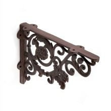 Heavy duty floating cast iron rustic shelf brackets