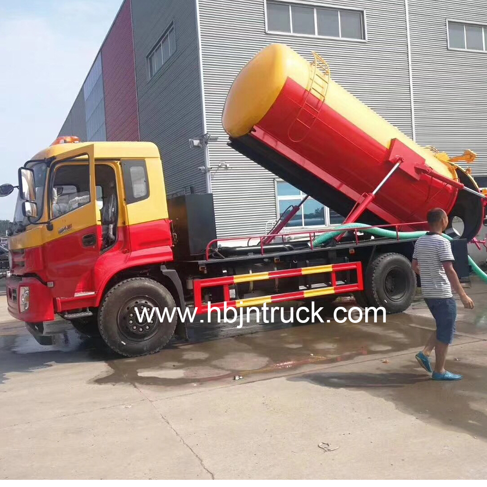 Vacuum Toilet Tanker Suction Truck