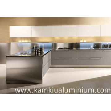 Aluminium Kitchen Cabinets easy to clean