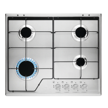 Electrolux 60cm Gas Cooktop in Stainless Steel