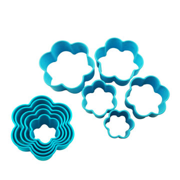 flower plastic baking cookie cutter tool candy